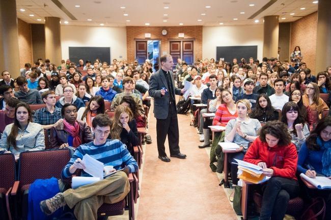 Professor Carnes in a lecture